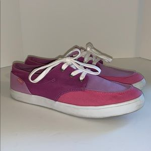 Purple and pink Reef sneakers woman's 8.5